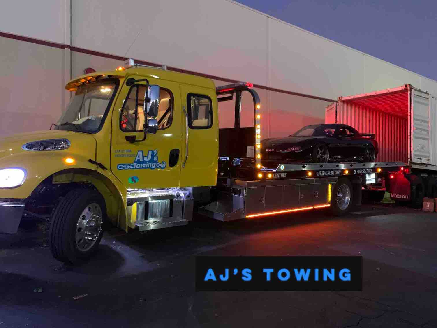 Towing Service in action sending RX7 to Hawaii